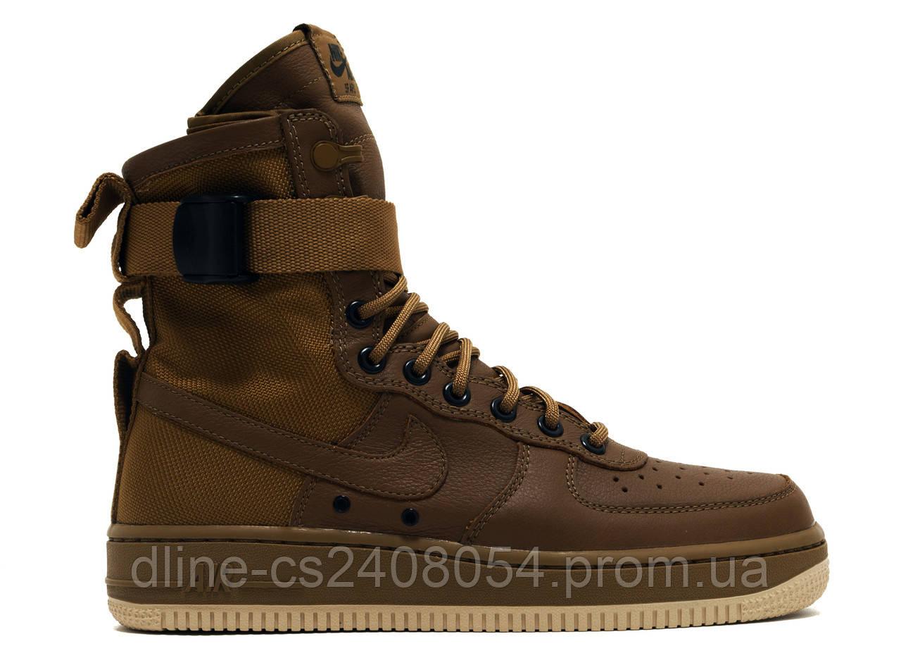 Мужские кроссовки Nike Air Force SF1 Коричневые