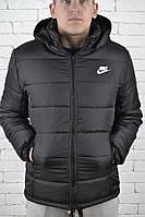 Мужская зимняя куртка короткая Nike Dark Grey