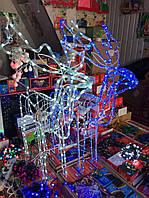 Большой светодиодный новогодний LED олень