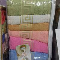 Подарочный набор махровых полотенец Турция 6шт.