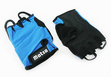 Перчатки для фитнеса,велоспорта Matsa синий (реплика)