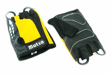 Перчатки для фитнеса,велоспорта Matsa желтый (реплика)