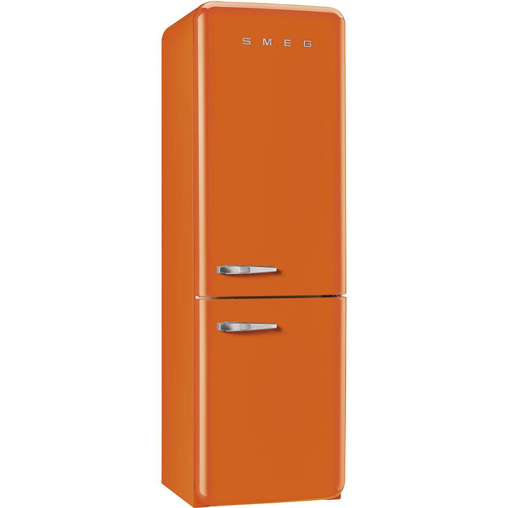Отдельностоящий двухдверный холодильник, стиль 50-х годов Smeg FAB32ROR3 оранжевый