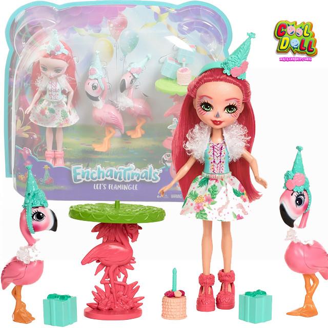 Энчантималс Фэнси Фламинго набор Волшебные Подружки ФЛАМИНГО Enchantimals Let's Flamingle