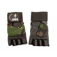 Перчатки для фитнеса ARMY с напульником черные L