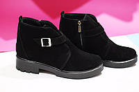 Женские стильные ботиночки от TroisRois из натуральной турецкого замша