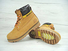 Зимние мужские ботинки Caterpillar песочные топ реплика, фото 3