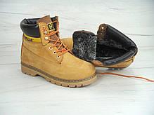 Зимние мужские ботинки Caterpillar песочные топ реплика, фото 2