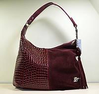 Женская модная сумка мешок из красной замши, новинка осень-зима
