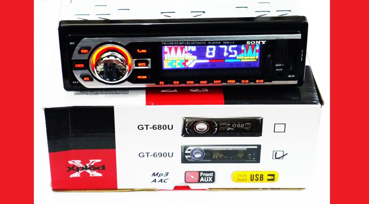 Автомагнитола Sony GT-690U ISO Bluetooth+MP3+FM+USB+SD+AUX