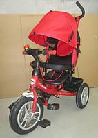 Велосипед 3-х колес TR17016 складной козырек,надувные колеса 12'' и 10''