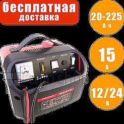 Зарядное устройство для автомобильного аккумулятора 12/24 В, 15 А, АКБ, быстрая зарядка BOOST, Worcraft BC 218