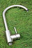 Смеситель кухонный Germece 7408 SSF нержавеющая сталь, фото 2