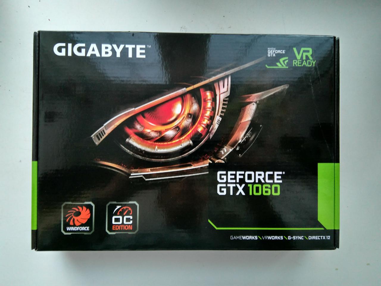 Видеокарта GIGABYTE GeForce GTX 1060 WINDFORCE OC 3G (GV-N1060WF2OC-3GD)