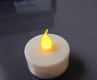 Электрические светодиодные свечи на батарейке желтая