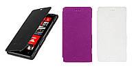 Чехол для Nokia Lumia 820 - Melkco Book leather case, кожаный, разные цвета