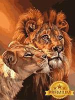 Картины по номерам 40×50 см. Babylon Premium Царственная пара