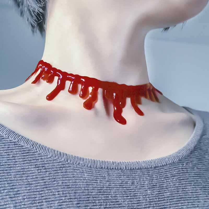 Ожерелье Кровавая Мэри (аксессуар на Хэллоуин)