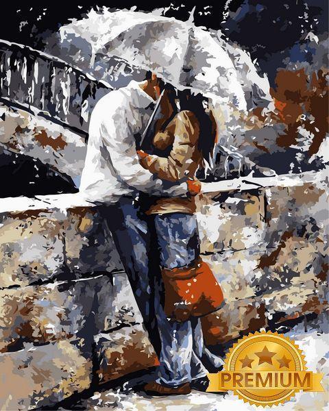 Раскраски для взрослых 40×50 см. Babylon Premium Прогулки под дождем Художник Эмерико Имре Тот