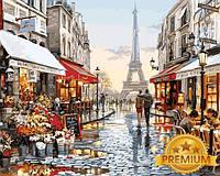 Картины по номерам 40×50 см. Babylon Premium Париж после дождя Художник Ричард Макнейл