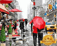 Картины по номерам 40×50 см. Babylon Premium Дождь в Нью-Йорке Художник Ричард Макнейл