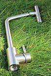 Кухонный смеситель Germece 7412 SSF нержавеющая сталь, фото 4