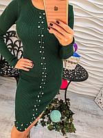 Женское облегающее платье с дорогими и сияющими камнями, в расцветках