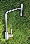 Кухонный смеситель Germece 7412 SSF нержавеющая сталь, фото 3