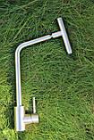 Кухонный смеситель Germece 7412 SSF нержавеющая сталь, фото 2