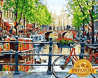 Картины по номерам 40×50 см. Babylon Premium Прогулка на велосипеде