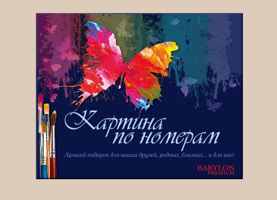 Раскраски по номерам 40×50 см. Babylon Premium Девушка с ...