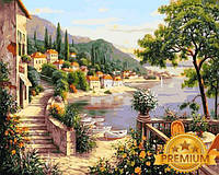 Картины по номерам 40×50 см. Babylon Premium Лазурный берег