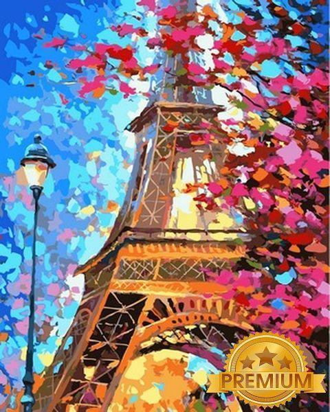 Раскраски для взрослых 40×50 см. Babylon Premium Весенний Париж