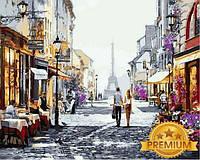 Рисование по номерам 40×50 см. Babylon Premium Прогулка по Парижу Художник Ричард Макнейл, фото 1