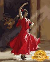 Картины по номерам 40×50 см. Babylon Premium Танец Фламенко Художник Ричард Макнейл