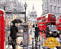 Картины по номерам 40×50 см. Babylon Premium Лондонский дождь Художник Ричард Макнейл