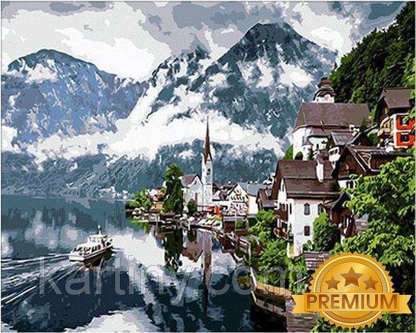 Рисование по номерам 40×50 см. Babylon Premium Гальштат Австрия