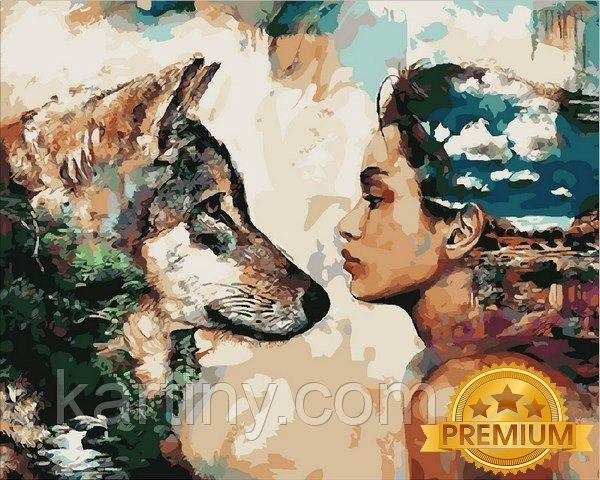 Раскраски по номерам 40×50 см. Babylon Premium Одной крови Художник Димитра Милан