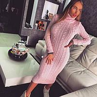 Теплое вязаное платье ДД