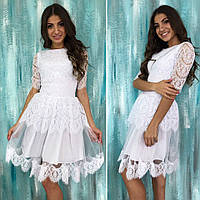 Гипюровое женское платье 1059 ВП