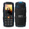 Land RoverV3+ 3sim IP68 Защищенный телефон c мощным фонариком(Power Bank) blue(синий)