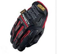 Перчатки тактические черные с красным M1_B_R
