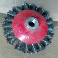 Щётки по металлу на болгарку 100 мм жёсткие 4100 тарелка