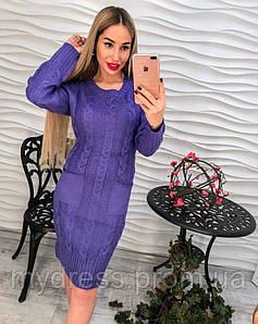 Платье косы машинная вязка 162