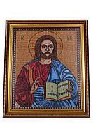Вышитая икона Иисус