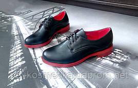 Туфли женские на красной подошве без каблука 37р