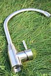 Смеситель кухонный Germece 7456 SSF нержавеющая сталь, фото 2