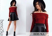 Женский костюм (S,M)  — топ-Ангора, юбка-кашемир купить оптом и в Розницу в одессе  7км M