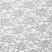 Гипюр ткань - цвет белый