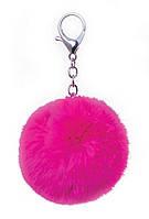 Брелок меховой Fluffy ярко-розовый
